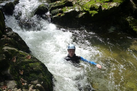 Canyoning découverte Jura