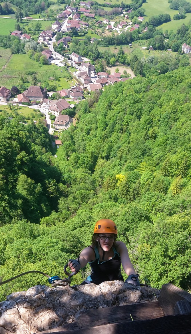 via ferrata nans sous sainte anne
